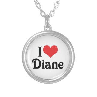 I Liebe Diane Versilberte Kette