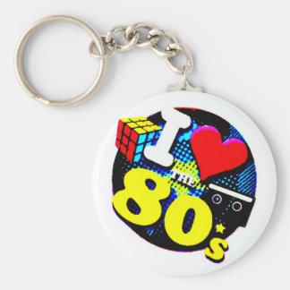 I Liebe die Achtzigerjahre Schlüsselanhänger