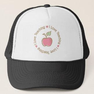 I Liebe, die Apple unterrichtet Truckerkappe