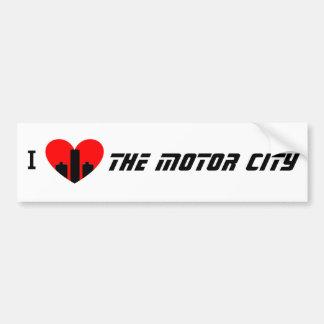 I Liebe die Bewegungsstadt Autoaufkleber