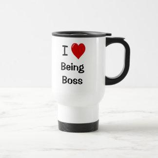 I Liebe, die Chef-motivierend Chef-Zitat ist Edelstahl Thermotasse