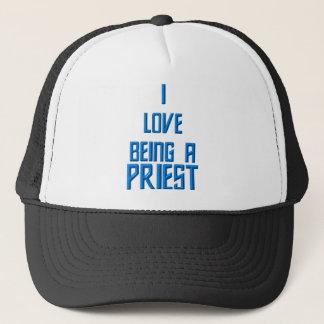 I Liebe, die ein Priester ist Truckerkappe