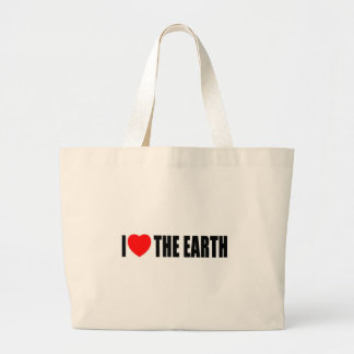 I Liebe die Erde Jumbo Stoffbeutel