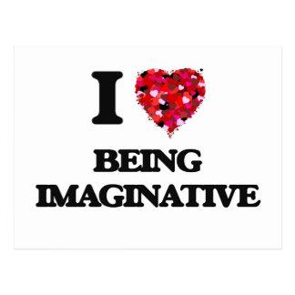 I Liebe, die fantasiereich ist Postkarten
