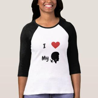I Liebe, die für 3/4 Hülsen-T - Shirt meine ist