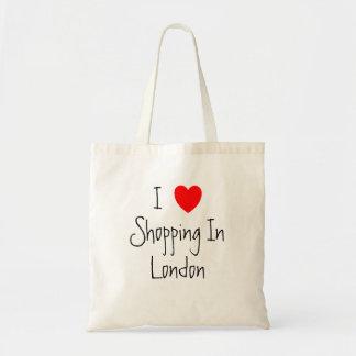 I Liebe, die in London-Tasche kauft Budget Stoffbeutel