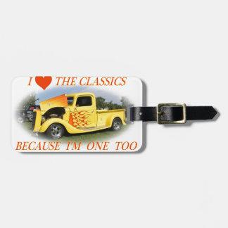 I Liebe die Klassiker Kofferanhänger