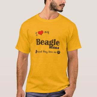 I Liebe, die mein Beagle mischt (mehrfache Hunde) T-Shirt