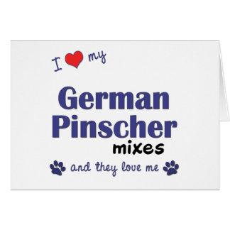 I Liebe, die mein deutscher Pinscher mischt Karte