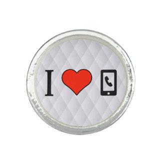 I Liebe, die mein Mobiltelefon verwendet Foto Ring