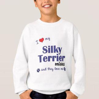 I Liebe, die mein seidiger Terrier mischt Sweatshirt