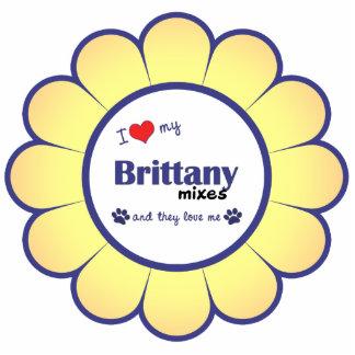 I Liebe, die meine Bretagne mischt (mehrfache Hund Fotoskulptur Ornament
