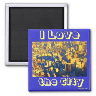 I Liebe die Stadt Quadratischer Magnet