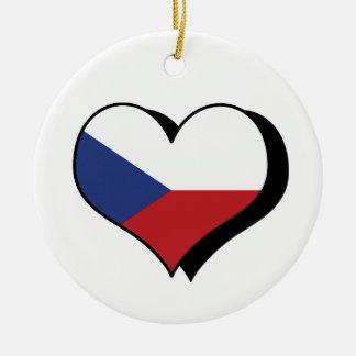 I Liebe die Tschechische Republik-Verzierung Keramik Ornament