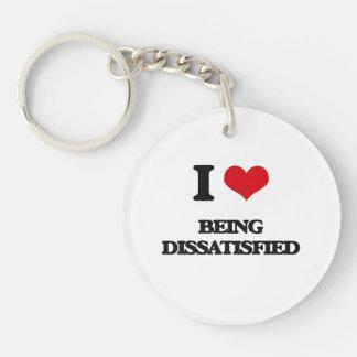 I Liebe, die unzufrieden gemacht wird Schlüsselanhängern