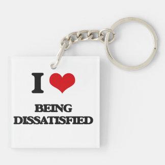 I Liebe, die unzufrieden gemacht wird Schlüssel Anhänger