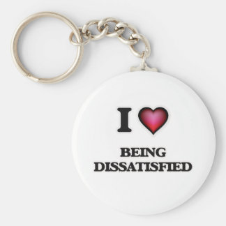 I Liebe, die unzufrieden gemacht wird Standard Runder Schlüsselanhänger
