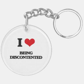 I Liebe, die unzufrieden ist Beidseitiger Runder Acryl Schlüsselanhänger