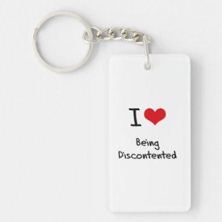 I Liebe, die unzufrieden ist Einseitiger Rechteckiger Acryl Schlüsselanhänger