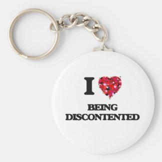 I Liebe, die unzufrieden ist Standard Runder Schlüsselanhänger