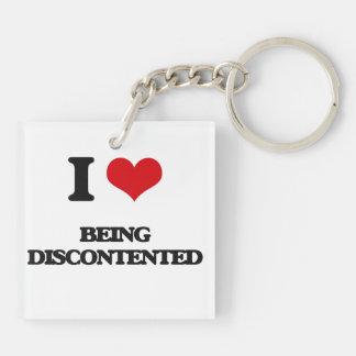 I Liebe, die unzufrieden ist Schlüssel Anhänger