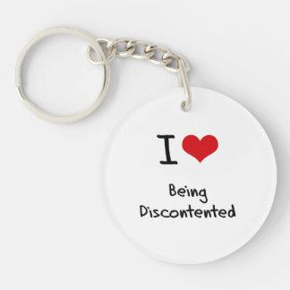 I Liebe, die unzufrieden ist Einseitiger Runder Acryl Schlüsselanhänger