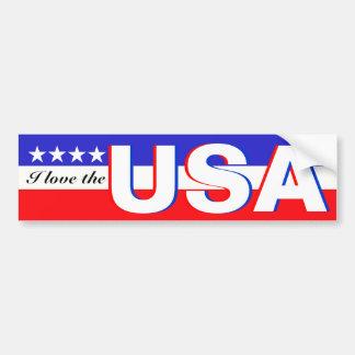I Liebe die USA Autoaufkleber