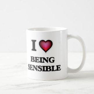 I Liebe, die vernünftig ist Kaffeetasse