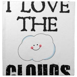 I Liebe die Wolken Serviette