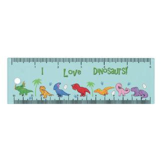 I Liebe-Dinosaurier (niedlich) Lineal