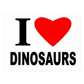 I Liebe-Dinosaurier Postkarte