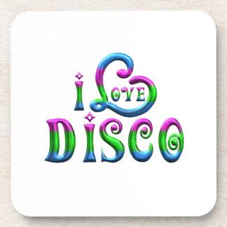 I Liebe-Disco Getränkeuntersetzer