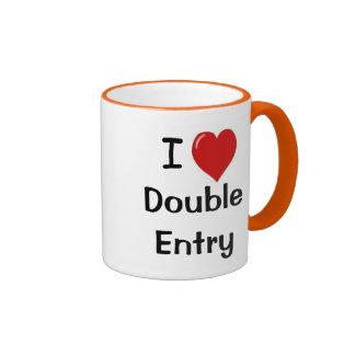 I Liebe-doppelter Eintritt - andeutende Ringer Tasse