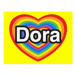 I Liebe Dora. Liebe I Sie Dora. Herz Postkarte