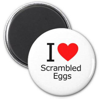 I Liebe-durcheinandergemischte Eier Runder Magnet 5,7 Cm
