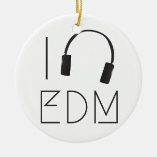I Liebe EDM Keramik Ornament
