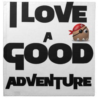 I Liebe ein gutes Abenteuer Stoffserviette