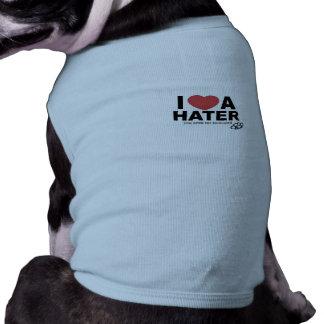 I Liebe ein Hater-Welpen-t T-Shirt