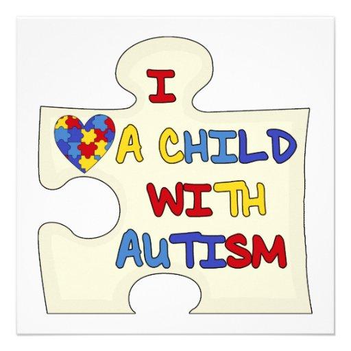I Liebe ein Kind mit Autismus Ankündigungskarten