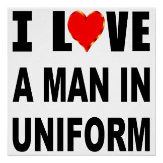 I Liebe ein Mann in der Uniform Poster