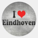 I Liebe Eindhoven, die Niederlande Runder Aufkleber