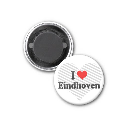 I Liebe Eindhoven, die Niederlande Runder Magnet 3,2 Cm