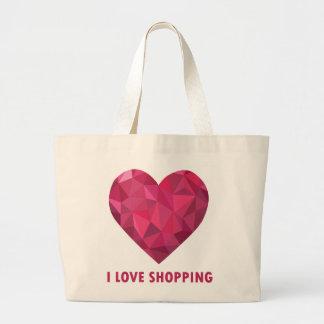 I Liebe-Einkauf Jumbo Stoffbeutel