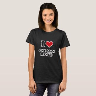 I Liebe-Einmannbänder T-Shirt