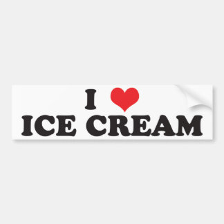 I Liebe-Eiscreme! Autoaufkleber