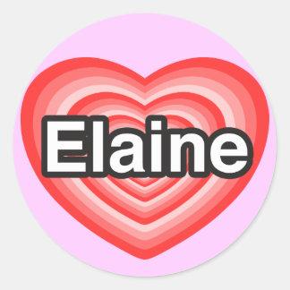 I Liebe Elaine. Liebe I Sie Elaine. Herz Runde Aufkleber