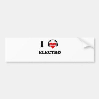 I Liebe-Electro Autoaufkleber