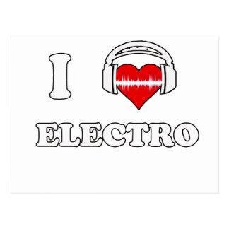 I Liebe-Electro Postkarte