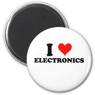 I Liebe-Elektronik Runder Magnet 5,7 Cm