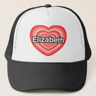 I Liebe Elizabeth. Liebe I Sie Elizabeth. Herz Truckerkappe